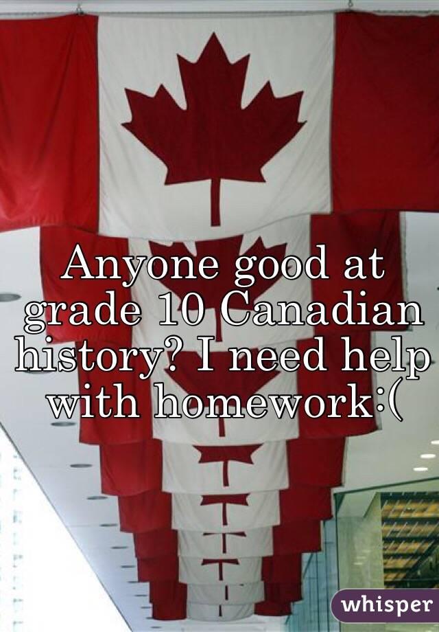 Canadian history homework help