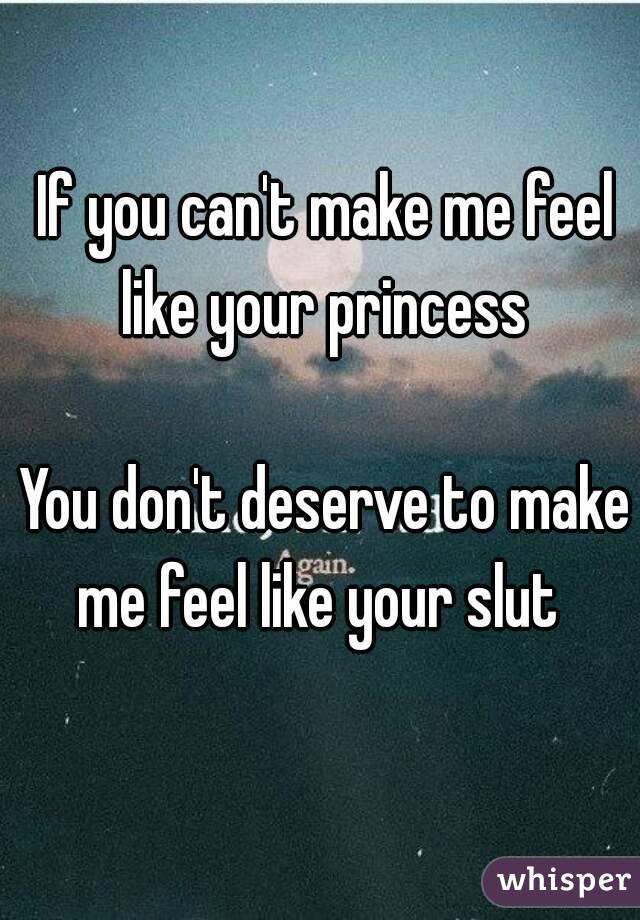 Make me your slut