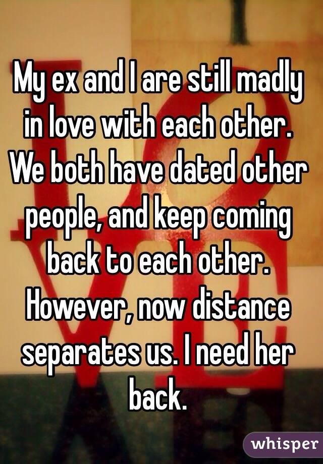 Hookup Someone Still In Love With Ex