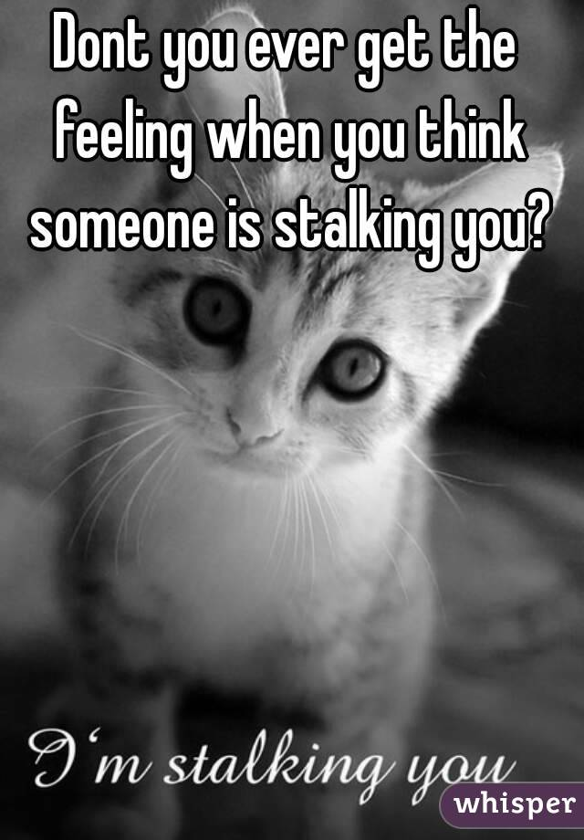 When Are You Stalking Someone When You Think Someone is