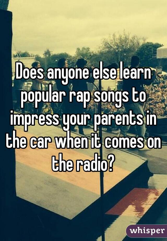 Best Rap Songs To Play In The Car