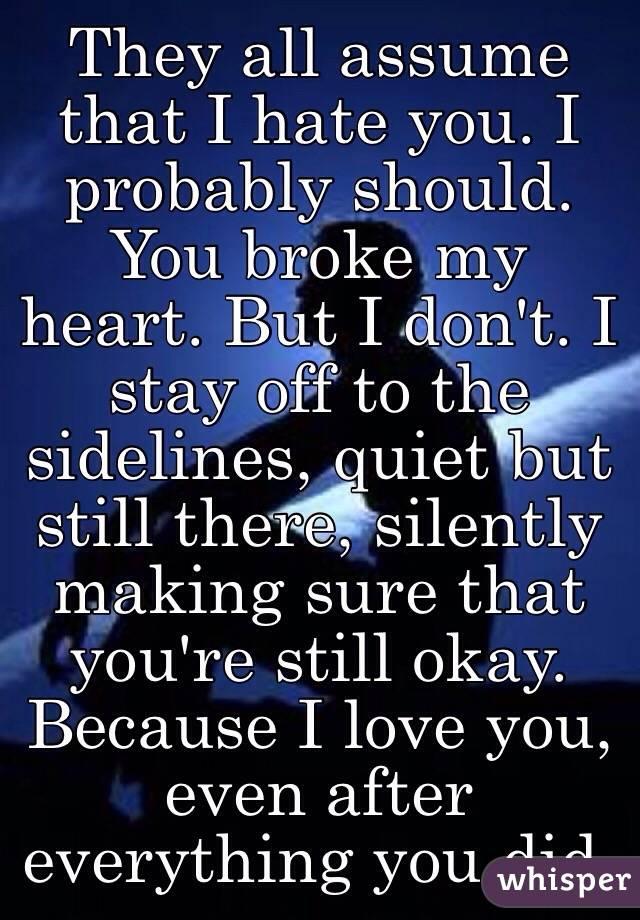 you broke my heart poems - photo #13