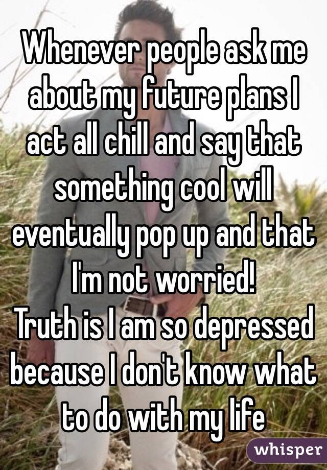 I am Worried about my Future?