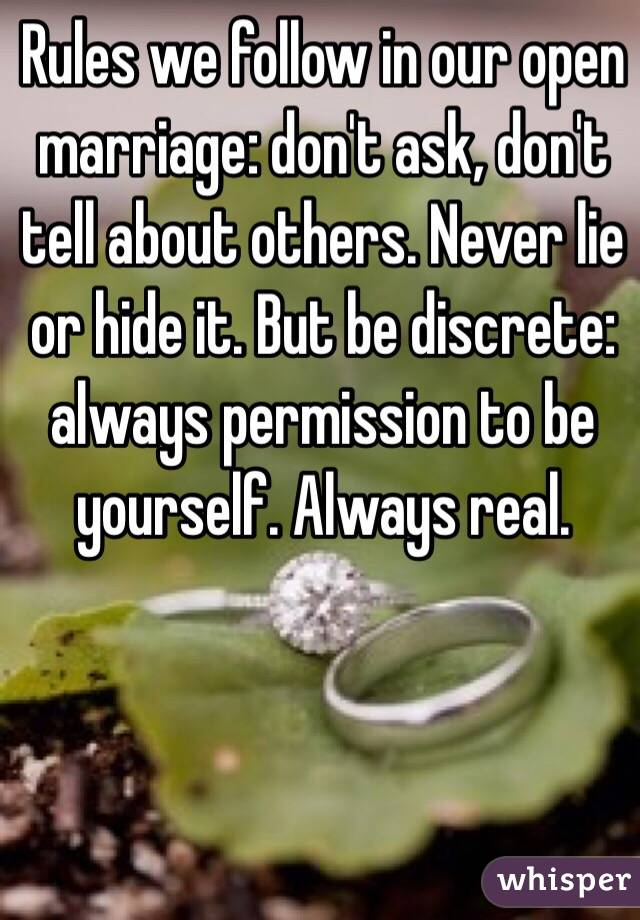 rules of open marriage