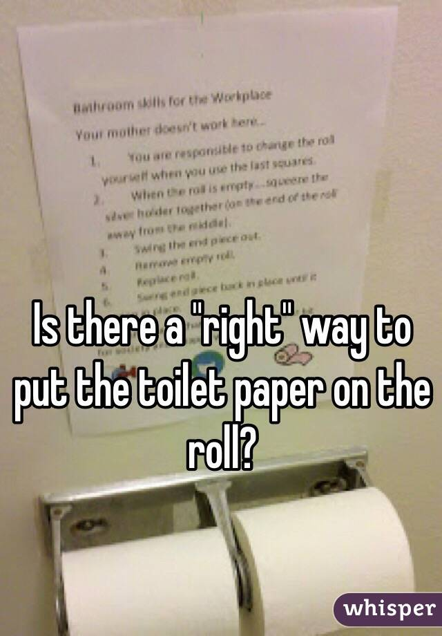 Bathroom Pet Peeves Not Putting Toilet Paper Roll On The