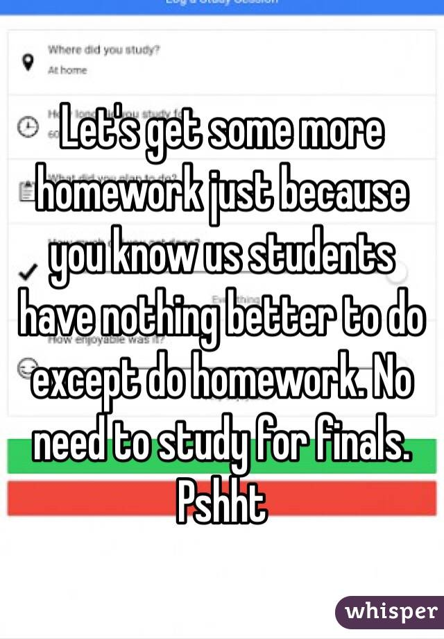 Do students need more homework