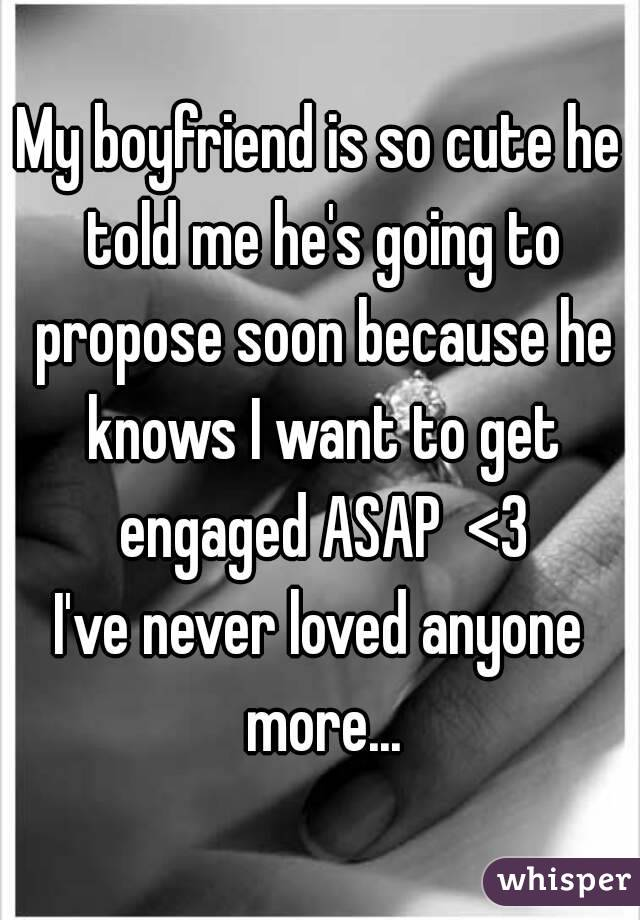 Is He Gonna Propose???:o?