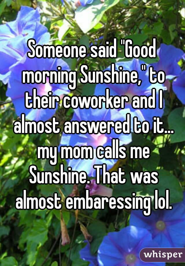 Good Worker Quotes Someone Said Good Morning