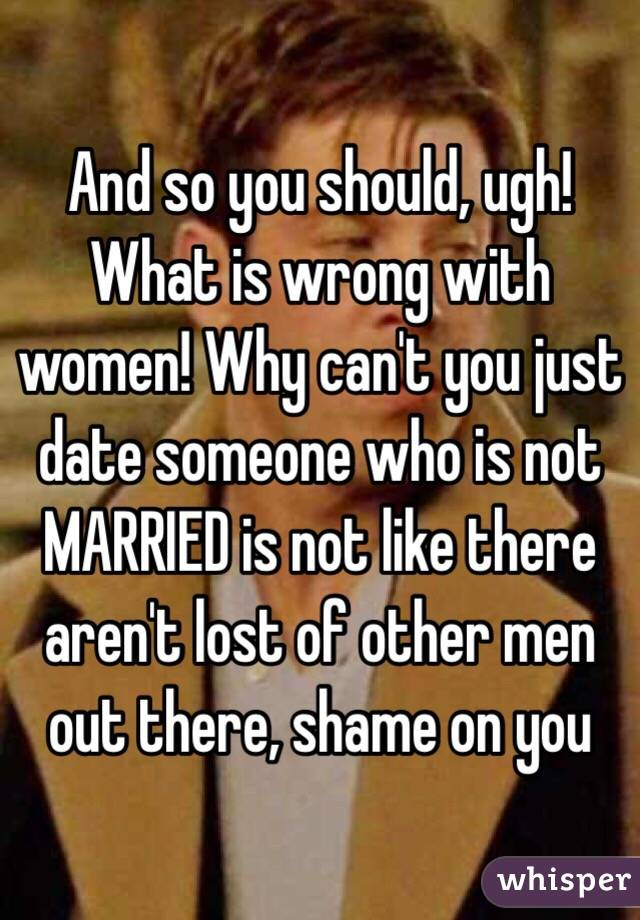 is dating a married man wrong