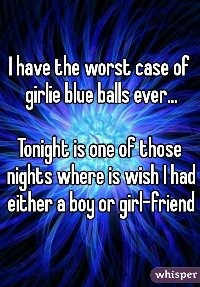Worst case of blue balls