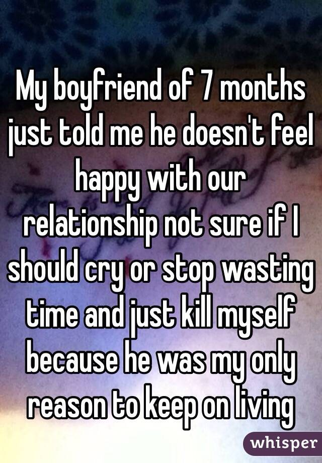 7 months into a relationship