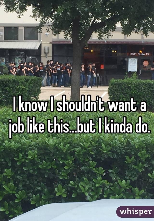 I know I shouldn't want a job like this...but I kinda do.