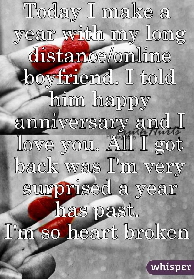 happy 1st anniversary long distance relationship