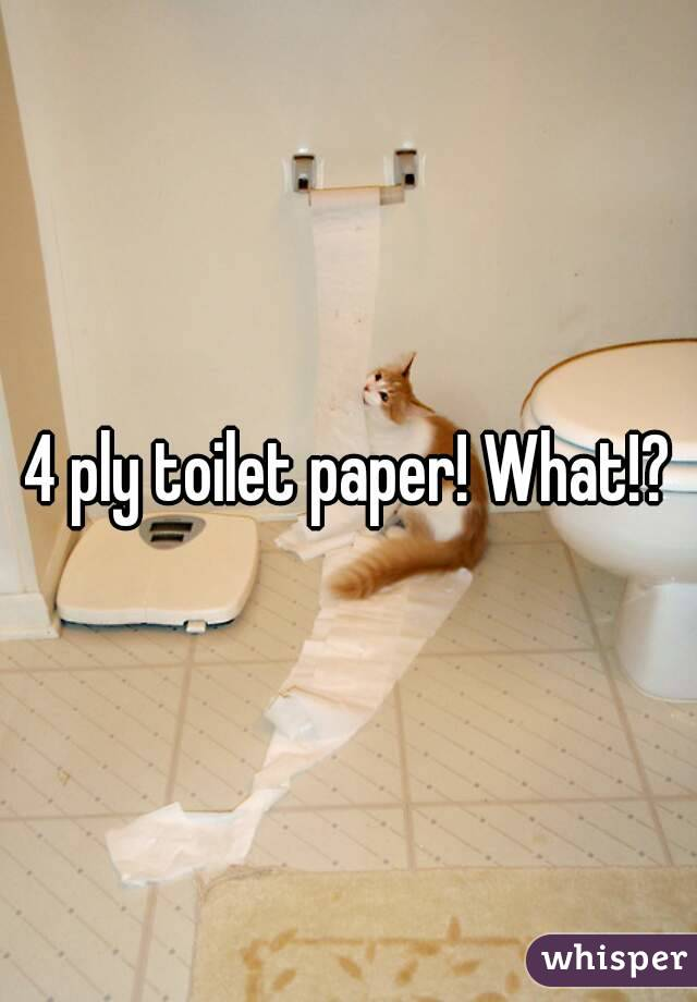 4 ply toilet paper! What!?