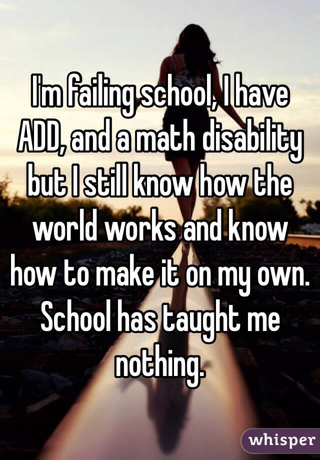 I'm failing school. What can I do?