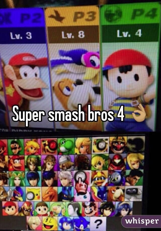 Super smash bros 4 👌🏽