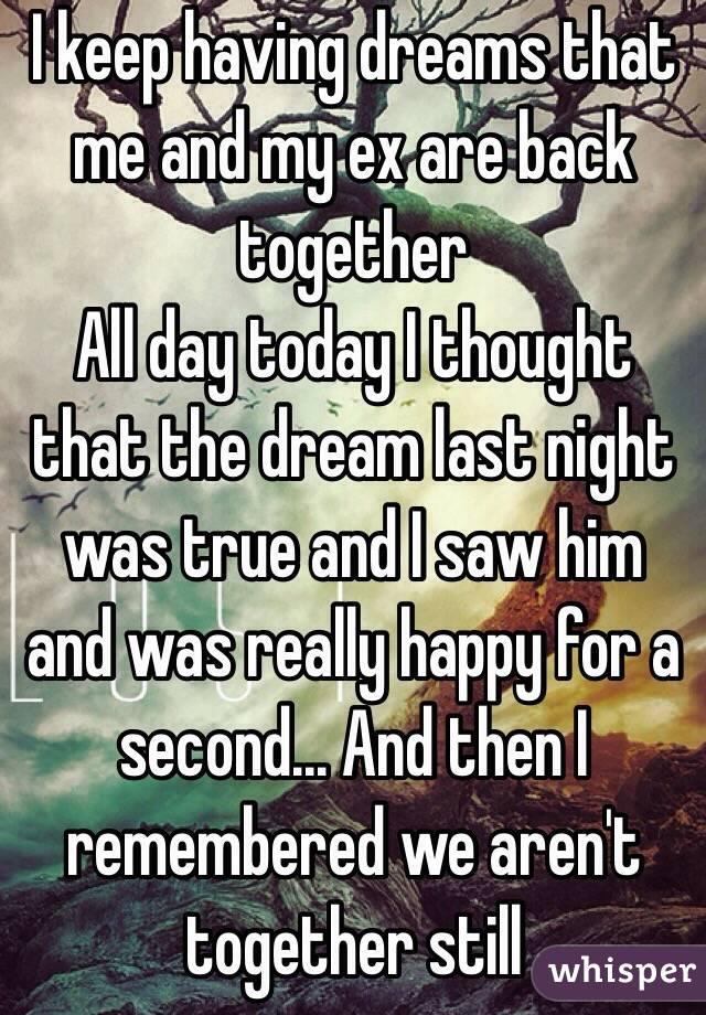 I keep having a reoccurring dream.?