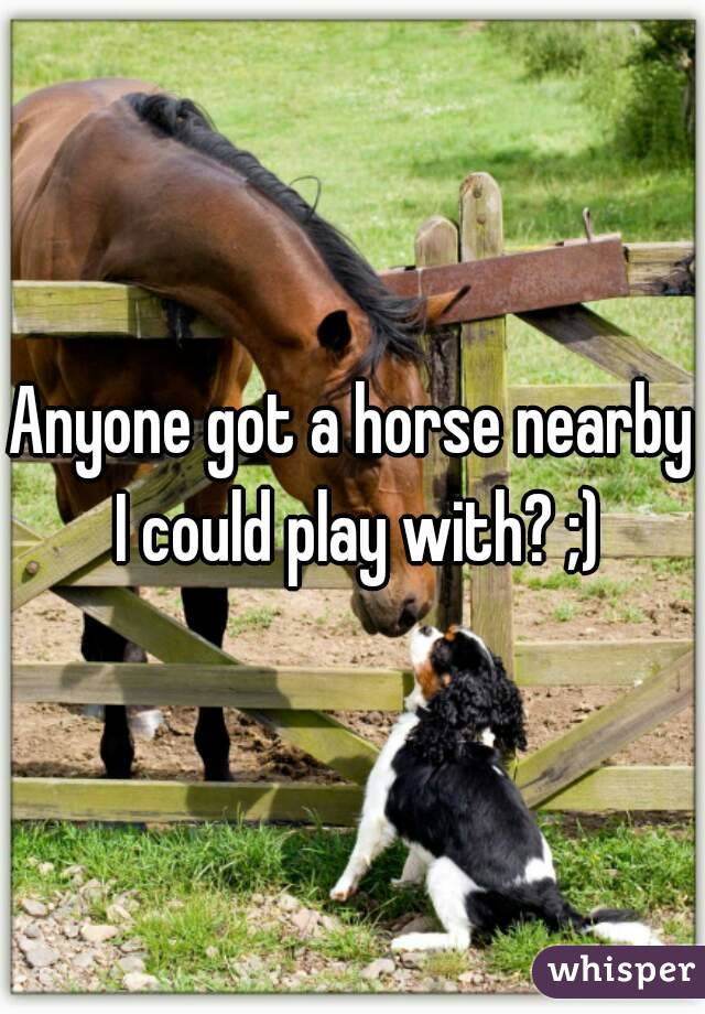 Anyone got a horse nearby I could play with? ;)