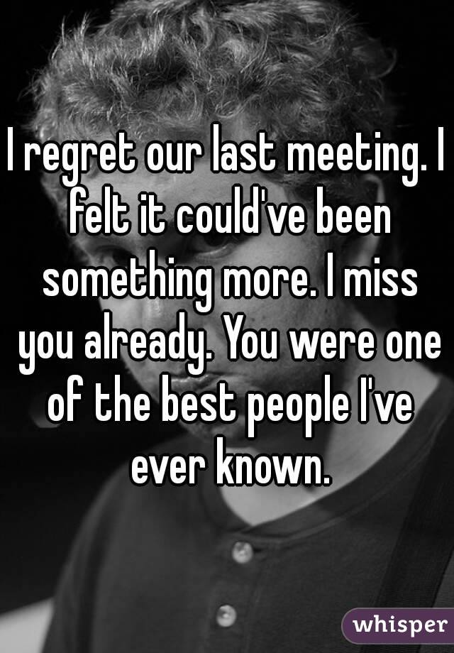 i Regret Ever Meeting You i Regret Our Last Meeting i