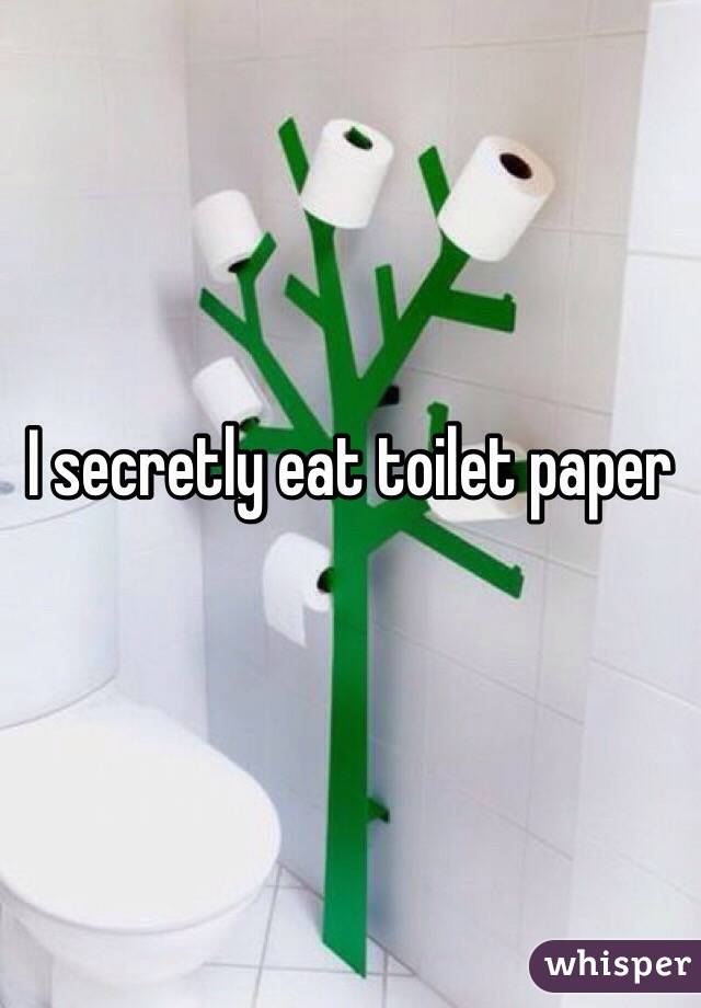 I secretly eat toilet paper