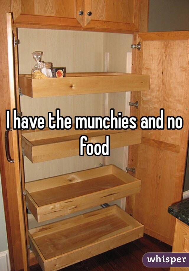 I have the munchies and no food