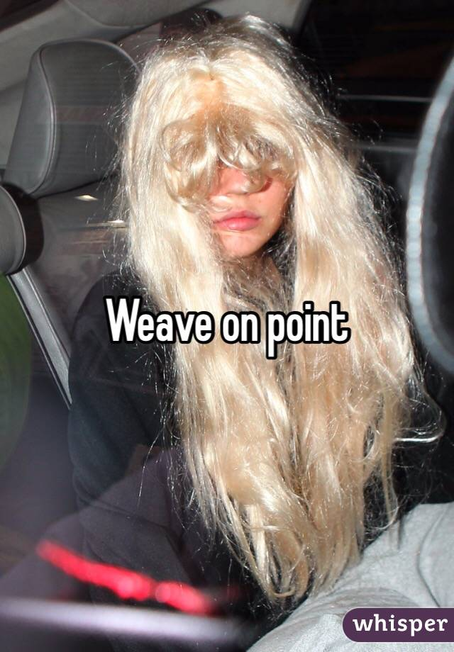 Weave on point