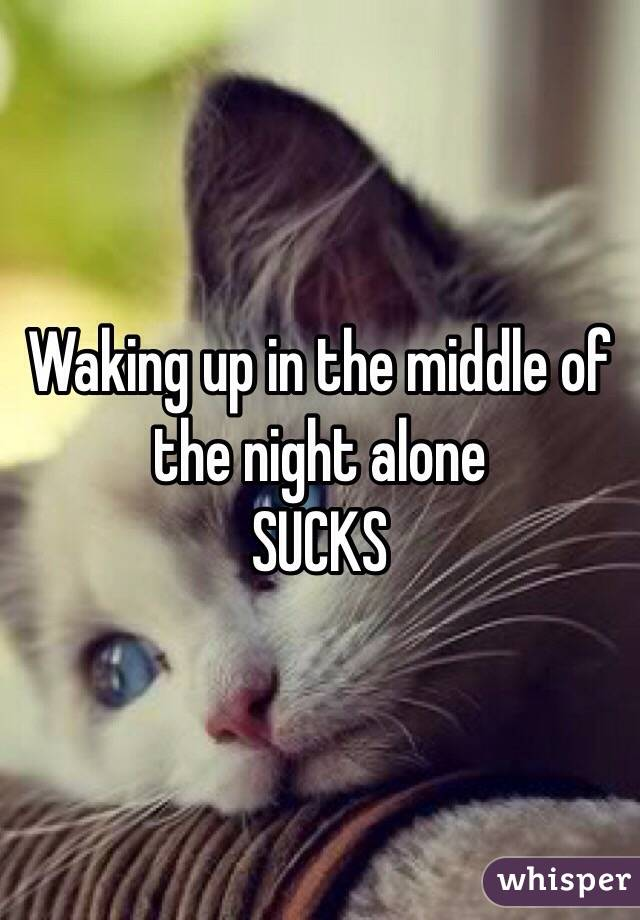 Waking up in the middle of the night alone  SUCKS