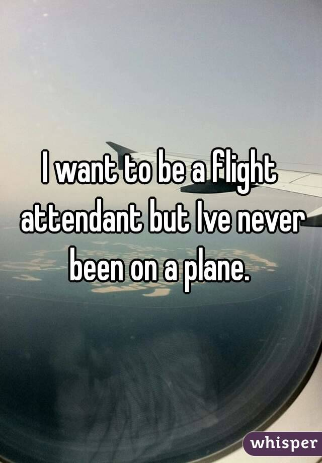 I want to be a flight attendant but Ive never been on a plane.