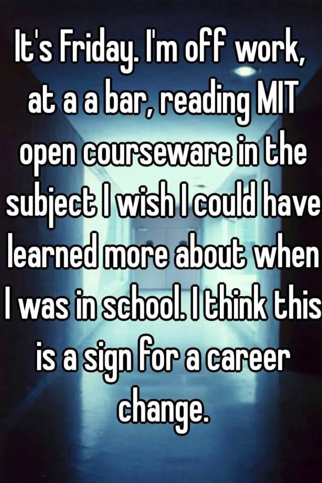 Mit open course work
