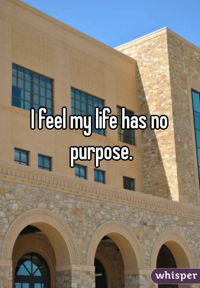I feel my life has no purpose.