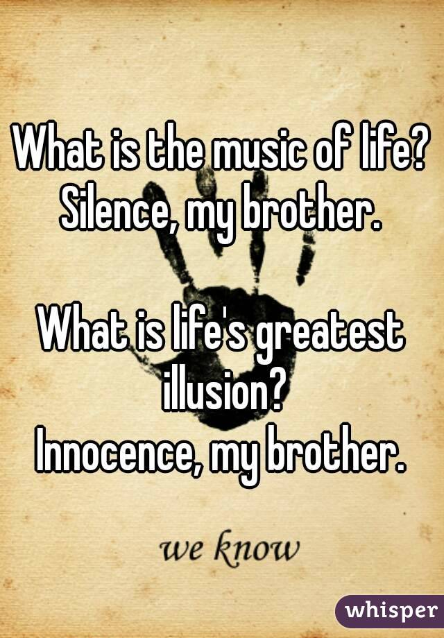 What is silence?