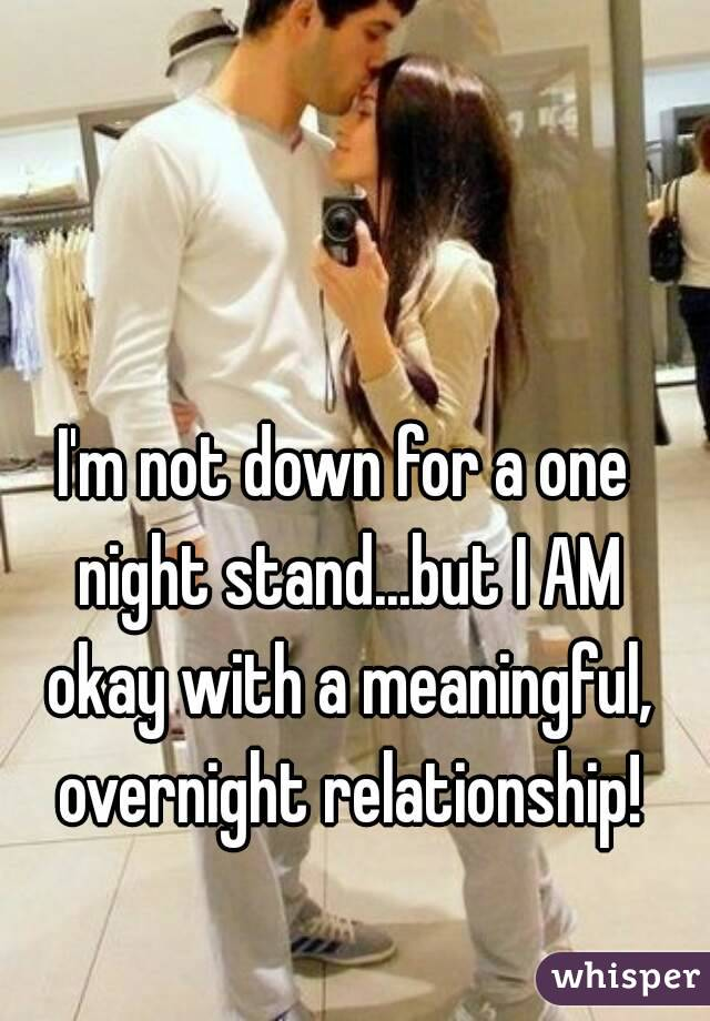 how to tell if your one night stand was meaningful