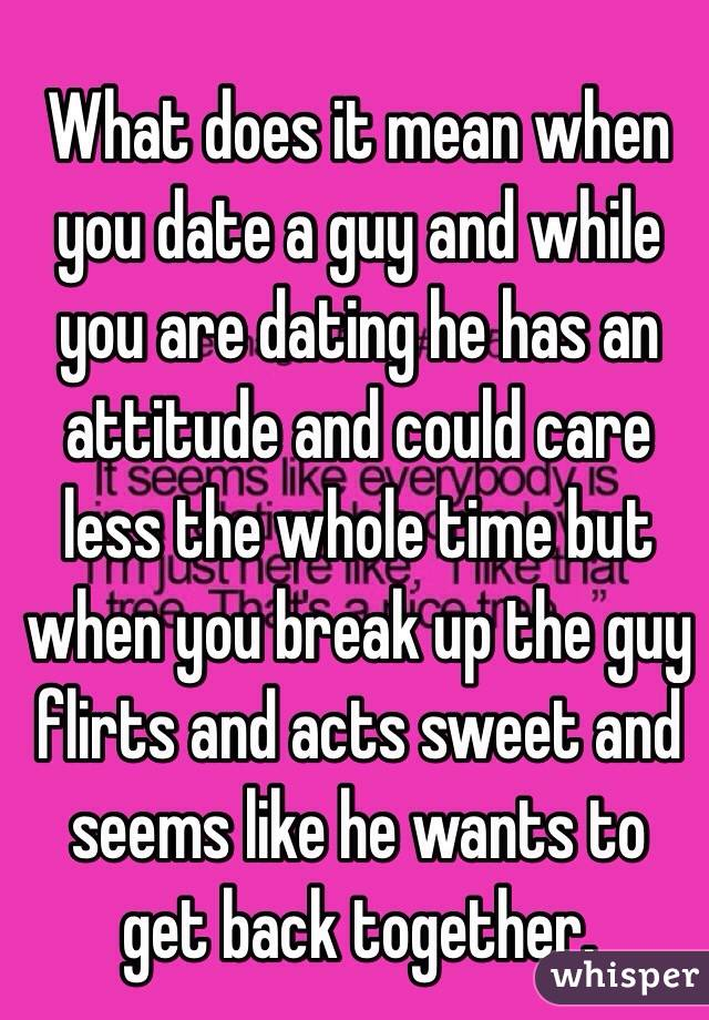 What does dating mean to a guy
