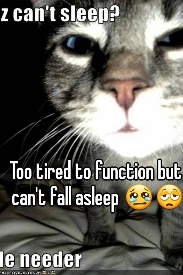 can t fall asleep tired to function but can t fall asleep 30687