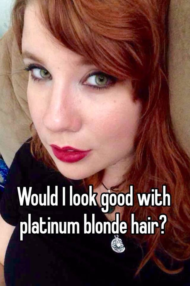 How Can I See What I Would Look Like With Blonde Hair 100