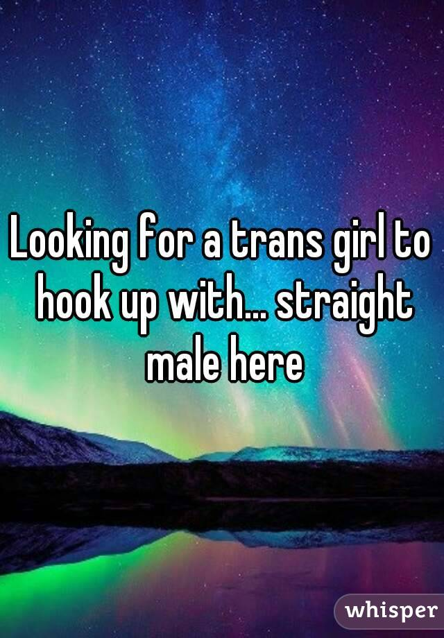 Looking for a trans girl to hook up with... straight male here