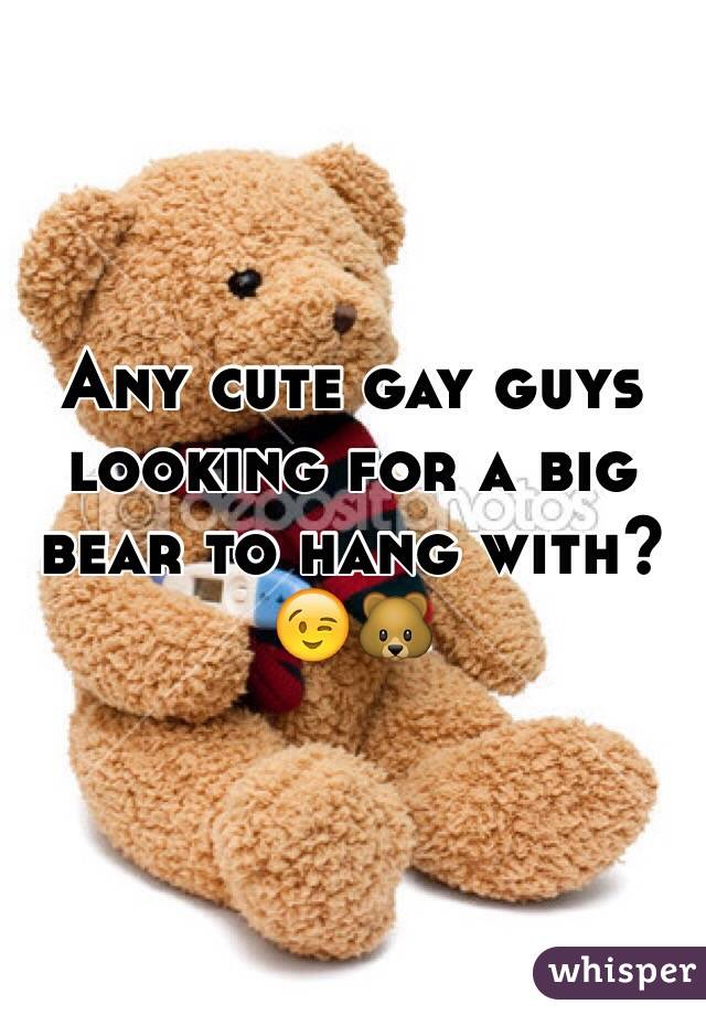 Any cute gay guys looking for a big bear to hang with? 😉🐻