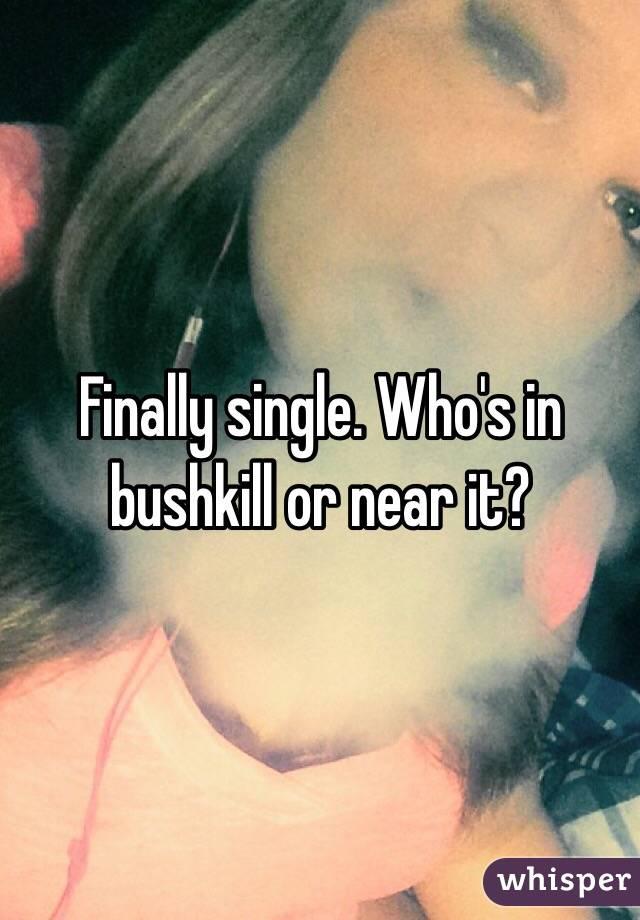 Finally single. Who's in bushkill or near it?