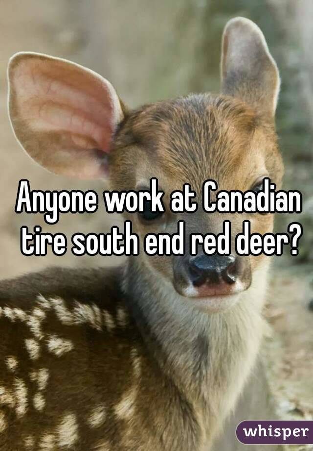 Anyone work at Canadian tire south end red deer?