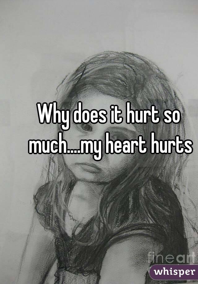 Why does it hurt so much....my heart hurts