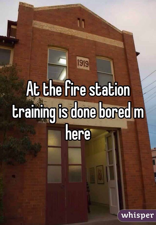 At the fire station training is done bored m here