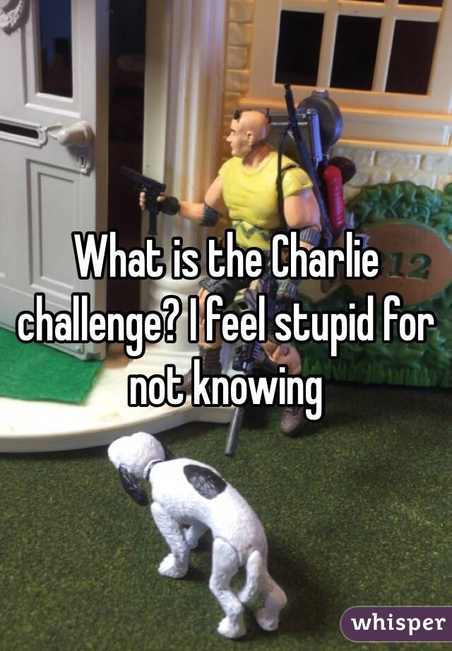 What is the Charlie challenge? I feel stupid for not knowing
