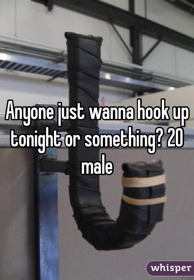 Anyone just wanna hook up tonight or something? 20 male