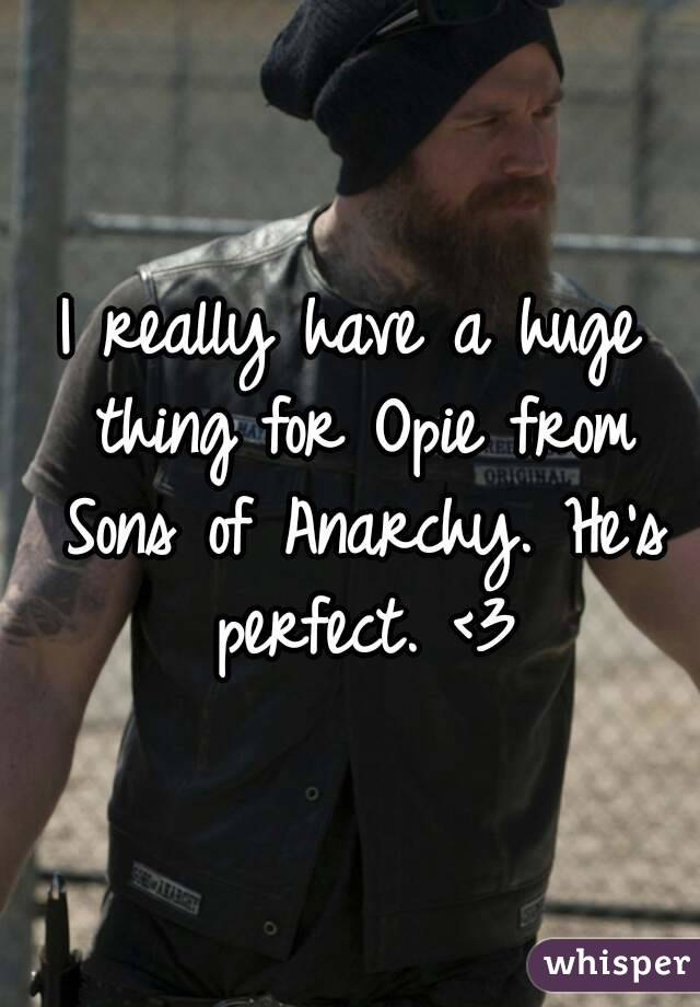 I really have a huge thing for Opie from Sons of Anarchy. He's perfect. <3