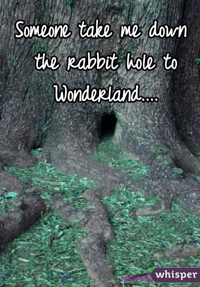 Someone take me down the rabbit hole to Wonderland....