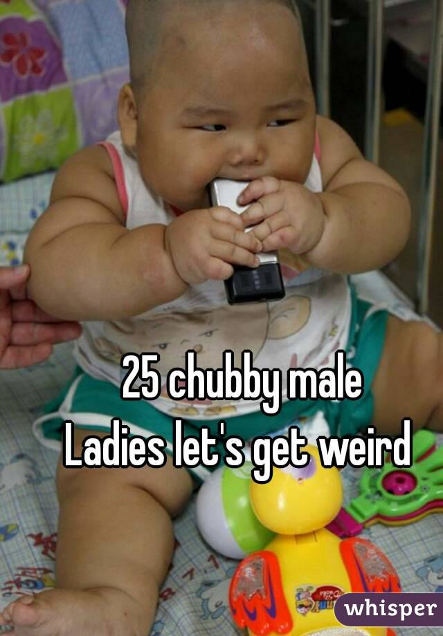 25 chubby male Ladies let's get weird