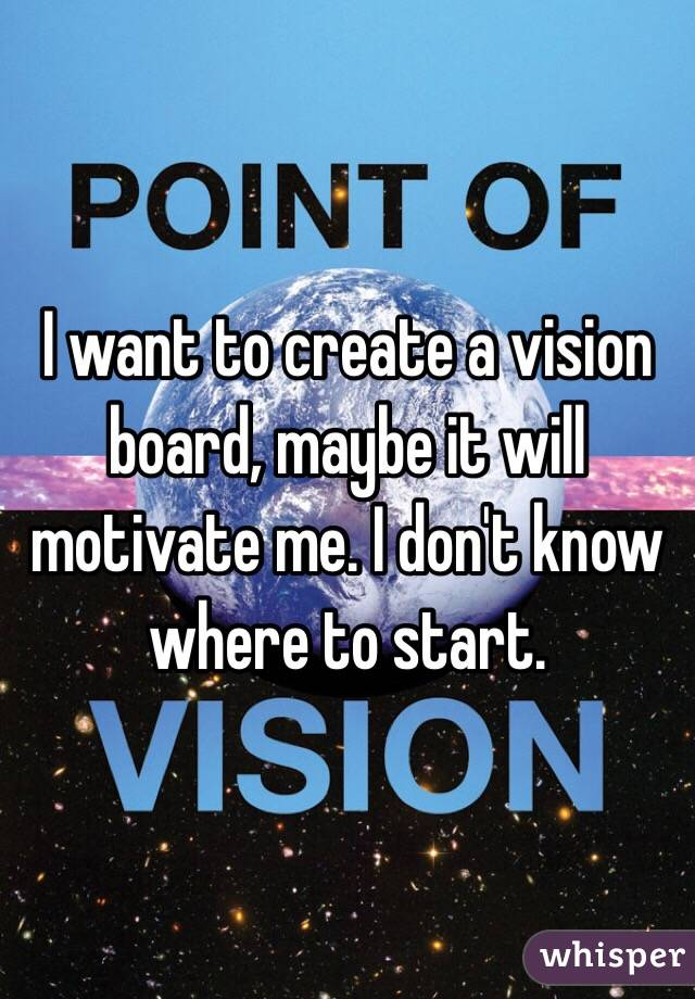 I want to create a vision board, maybe it will motivate me. I don't know where to start.