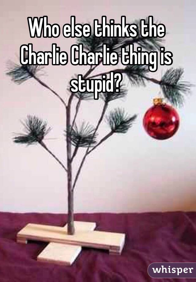 Who else thinks the Charlie Charlie thing is stupid?