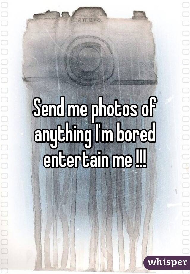 Send me photos of anything I'm bored entertain me !!!