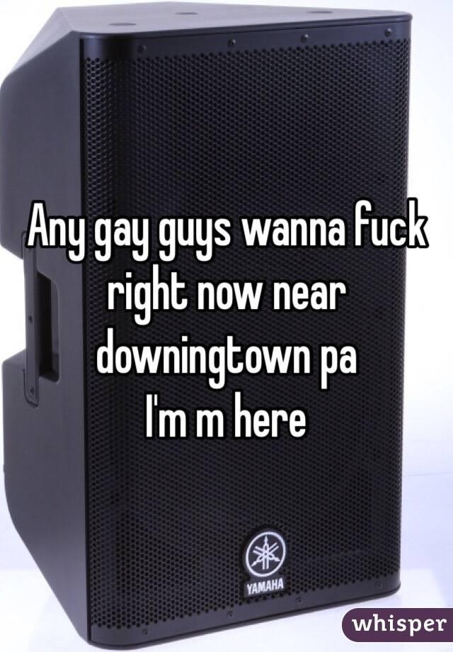 Any gay guys wanna fuck right now near downingtown pa  I'm m here
